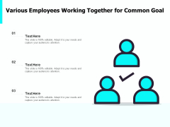 Various Employees Working Together For Common Goal Ppt PowerPoint Presentation Professional Visual Aids PDF