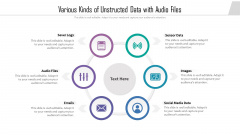 Various Kinds Of Unstructed Data With Audio Files Ppt PowerPoint Presentation File Inspiration PDF