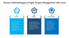 Various Methodologies Of Agile Project Management With Icons Ppt PowerPoint Presentation Infographics Graphics PDF