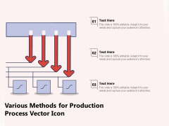 Various Methods For Production Process Vector Icon Ppt PowerPoint Presentation Icon Graphics Tutorials PDF