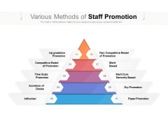 Various Methods Of Staff Promotion Ppt PowerPoint Presentation Icon Clipart