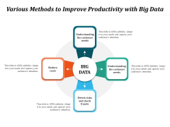 Various Methods To Improve Productivity With Big Data Ppt PowerPoint Presentation Gallery Portfolio PDF