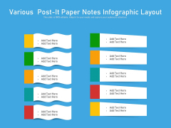 Various Post It Paper Notes Infographic Layout Ppt PowerPoint Presentation File Layouts PDF