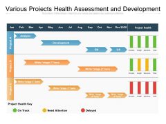 Various Projects Health Assessment And Development Ppt PowerPoint Presentation Portfolio Inspiration PDF