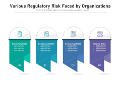 Various Regulatory Risk Faced By Organizations Ppt PowerPoint Presentation Icon Samples PDF