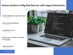 Various Sections Of Big Data Sources With Legacy Documents Ppt PowerPoint Presentation Gallery Microsoft PDF