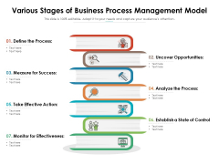 Various Stages Of Business Process Management Model Ppt PowerPoint Presentation File Good PDF