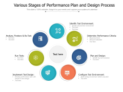 Various Stages Of Performance Plan And Design Process Ppt PowerPoint Presentation Icon Styles PDF