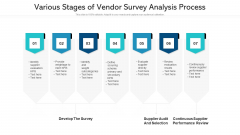 Various Stages Of Vendor Survey Analysis Process Ppt PowerPoint Presentation Slides Themes PDF