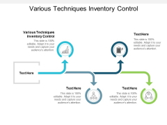 Various Techniques Inventory Control Ppt PowerPoint Presentation Professional Design Inspiration Cpb