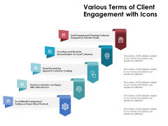 Various Terms Of Client Engagement With Icons Ppt PowerPoint Presentation Model Slides PDF