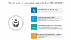 Various Tools For Improving Employee Retention Strategy Ppt Themes PDF
