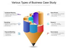Various Types Of Business Case Study Ppt PowerPoint Presentation Gallery Backgrounds PDF