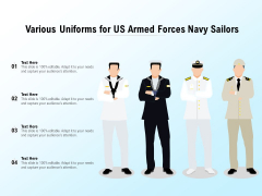 Various Uniforms For US Armed Forces Navy Sailors Ppt PowerPoint Presentation Pictures Skills PDF