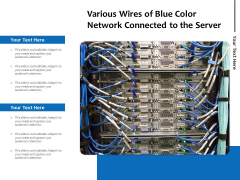 Various Wires Of Blue Color Network Connected To The Server Ppt PowerPoint Presentation Gallery Graphic Images PDF