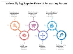 Various Zig Zag Steps For Financial Forecasting Process Ppt PowerPoint Presentation Icon Graphics Design PDF