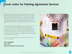 Varnishing Services Agreement Cover Letter For Painting Agreement Services Ppt Styles Show PDF