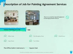 Varnishing Services Agreement Description Of Job For Painting Agreement Services Ppt Professional Graphics Tutorials PDF