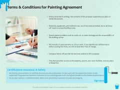 Varnishing Services Agreement Terms And Conditions For Painting Agreement Ppt Professional Styles PDF