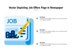 Vector Depicting Job Offers Page In Newspaper Ppt PowerPoint Presentation Gallery Templates PDF