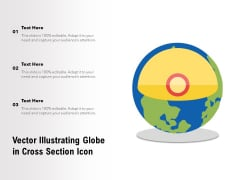 Vector Illustrating Globe In Cross Section Icon Ppt PowerPoint Presentation Show Layouts PDF