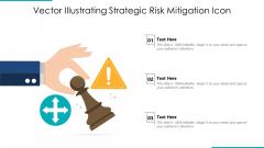 Vector Illustrating Strategic Risk Mitigation Icon Ppt PowerPoint Presentation Gallery Diagrams PDF