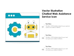 Vector Illustration Chatbot Web Assistance Service Icon Ppt PowerPoint Presentation File Clipart PDF