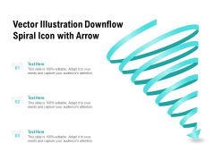 Vector Illustration Downflow Spiral Icon With Arrow Ppt PowerPoint Presentation Icon Format PDF