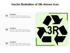 Vector Illustration Of 3Rs Arrows Icon Ppt PowerPoint Presentation Icon Graphic Images PDF