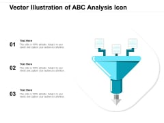 Vector Illustration Of ABC Analysis Icon Ppt PowerPoint Presentation Layouts Layouts PDF