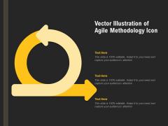 Vector Illustration Of Agile Methodology Icon Ppt PowerPoint Presentation File Visuals PDF