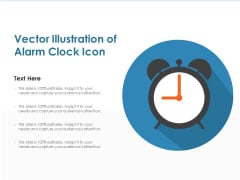 Vector Illustration Of Alarm Clock Icon Ppt PowerPoint Presentation Gallery Templates PDF