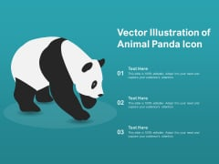 Vector Illustration Of Animal Panda Icon Ppt PowerPoint Presentation Professional Example