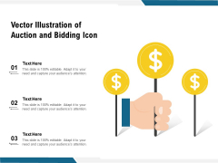 Vector Illustration Of Auction And Bidding Icon Ppt PowerPoint Presentation Gallery Information PDF