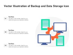 Vector Illustration Of Backup And Data Storage Icon Ppt PowerPoint Presentation Gallery Mockup PDF
