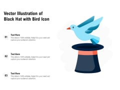 Vector Illustration Of Black Hat With Bird Icon Ppt PowerPoint Presentation File Slide PDF
