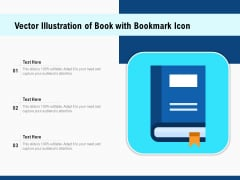 Vector Illustration Of Book With Bookmark Icon Ppt PowerPoint Presentation Gallery Microsoft PDF