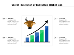 Vector Illustration Of Bull Stock Market Icon Ppt PowerPoint Presentation Gallery Structure PDF