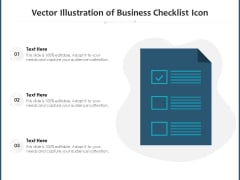 Vector Illustration Of Business Checklist Icon Ppt PowerPoint Presentation Background Images PDF