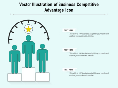 Vector Illustration Of Business Competitive Advantage Icon Ppt PowerPoint Presentation File Slides PDF