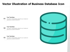 Vector Illustration Of Business Database Icon Ppt PowerPoint Presentation Model Diagrams PDF