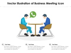Vector Illustration Of Business Meeting Icon Ppt PowerPoint Presentation Inspiration File Formats PDF