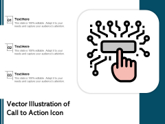 Vector Illustration Of Call To Action Icon Ppt PowerPoint Presentation File Samples PDF
