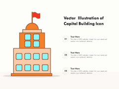 Vector Illustration Of Capital Building Icon Ppt PowerPoint Presentation Icon Infographic Template PDF