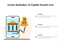 Vector Illustration Of Capital Growth Icon Ppt PowerPoint Presentation File Outline PDF