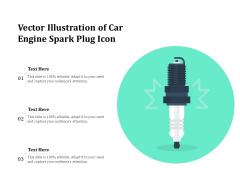 Vector Illustration Of Car Engine Spark Plug Icon Ppt PowerPoint Presentation File Graphics Design PDF