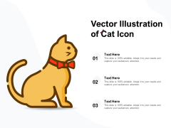Vector Illustration Of Cat Icon Ppt PowerPoint Presentation Outline Vector