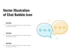 Vector Illustration Of Chat Bubble Icon Ppt PowerPoint Presentation File Diagrams