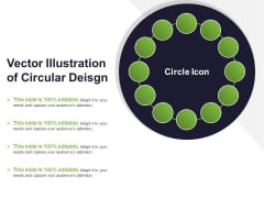 Vector Illustration Of Circular Deisgn Ppt PowerPoint Presentation File Visual Aids PDF