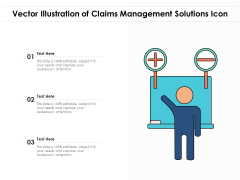 Vector Illustration Of Claims Management Solutions Icon Ppt PowerPoint Presentation Portfolio Summary PDF